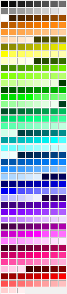 LibreOffice Color Palette